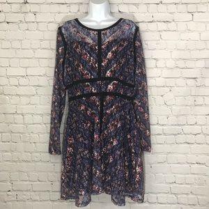Xhilaration Lace Long Sleeve Dress, sz XL (JJ18)